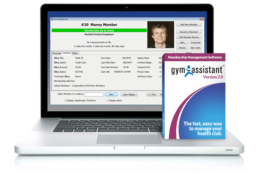 Gym Assistant Software Screen