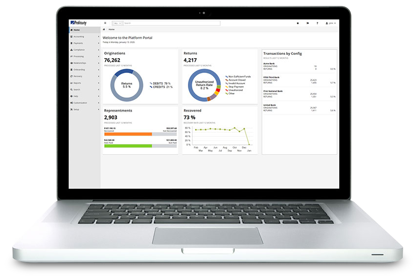 Profituity Laptop Dashboard