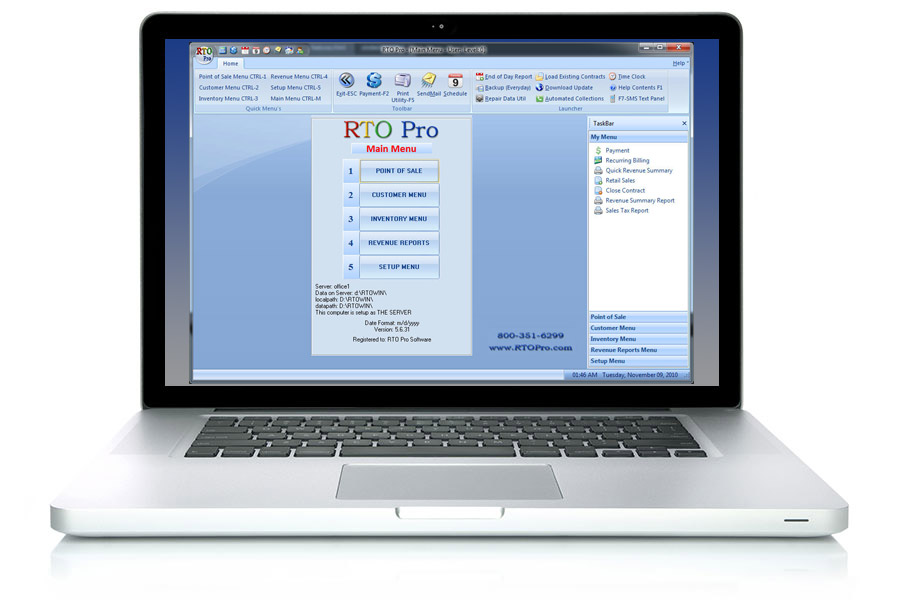 RTO Pro Software Screen